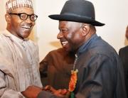 President Buhari Greets Goodluck Jonathan At 61