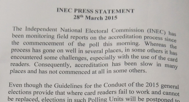 INEC's Press Release On New Election Guidelines