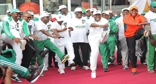 Jonathan Promises Special Funds For Sports If Re-elected