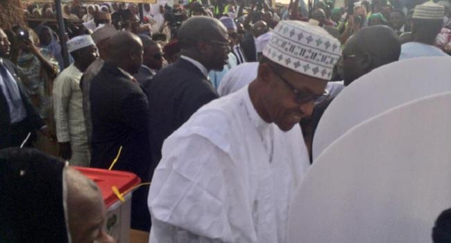Buhari Votes In Katsina