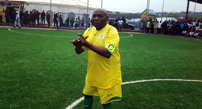 Obasanjo In Football Kit