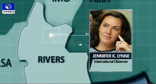Rivers Election Compromised, International Observer, Jennifer Lynne Says