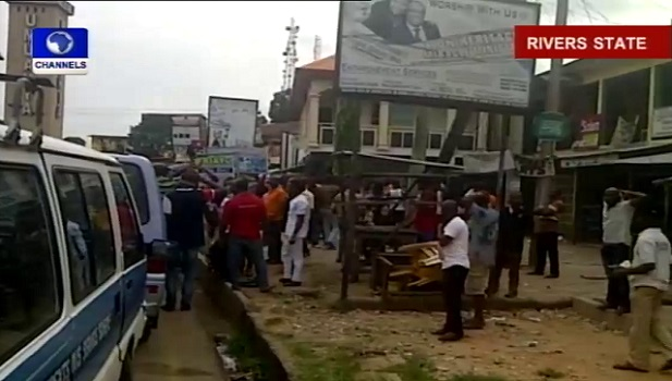 APC Supporters Protest In Rivers State