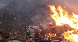mob burning