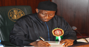 Goodluck Jonathan on Constitution amendment