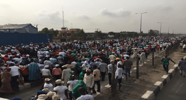 APC Holds One Million Man March In Lagos