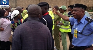 police at election polling unit