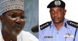 Attahiru Jega Solomon Arase INEC and police discuss policing