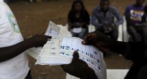 Thumb-printing of ballot papers