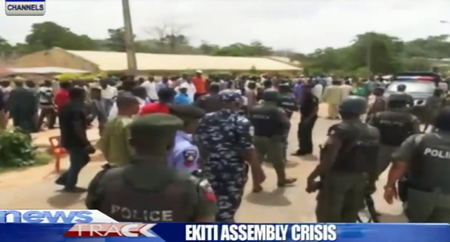 PDP Lawmakers, Supporters Protest Fayose's Impeachment Plot In Ekiti