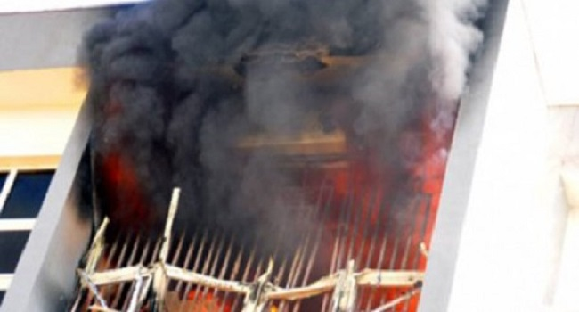 Fire Razes INEC Office In Imo state