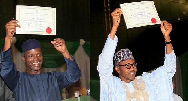 General Muhammadu Buhari Receives Certificate Of Return