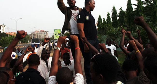 Nigerian Students Protest Against Xenophobic Attacks