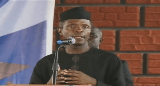Osinbajo Calls For Support To Fight Evil