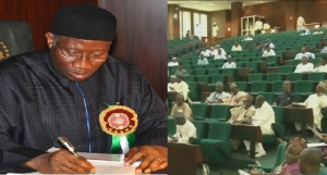 Goodluck Jonathan and National Assembly on constitution amendment