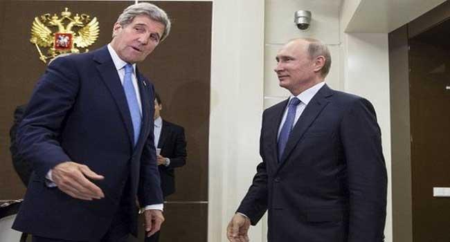 John Kerry Meets Russian President On Ukraine Crisis