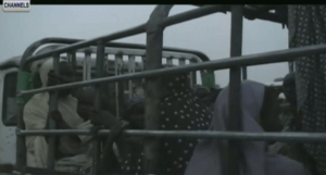 Rescued women and cildren from Boko Haram
