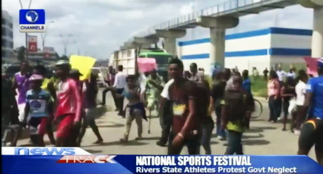 Rivers Athletes Protest 8 Months Unpaid Wages