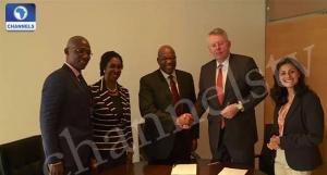 Deutsche-Welle-Officials-John-Momoh-Sola-Momoh-Kayode-Akintemi-In-Germany