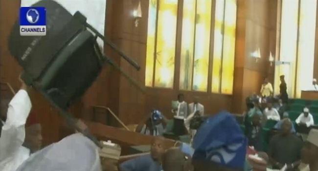 House Plenary Session Degenerates Into Fisticuff