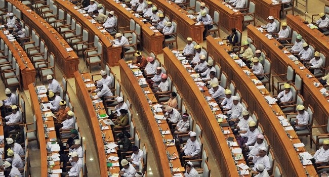 Myanmar Parliament Ballots To Keep Army Veto