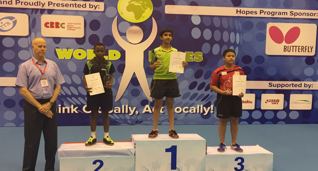 Animasahun Continues Fine Form At ITTF Hopes Challenge In China