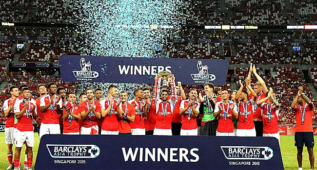 Arsenal Beat Everton 3-1 To Secure Asia Trophy
