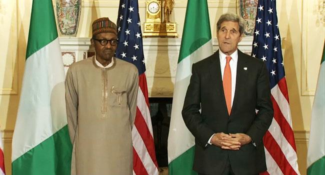 President Buhari Meets With U.S Secretary Of State, John Kerry