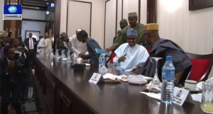 Muhammadu-Buhari-House-Of-Reps-APC-Members-meet