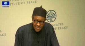 Muhammadu Buhari in the Institute of Peace