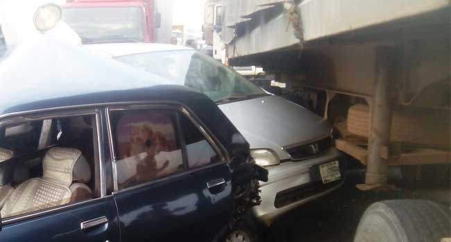 Truck Causes Multiple Accidents In Benin City