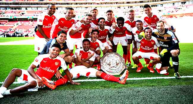 Arsenal Win 2015 Community Shield At Wembley