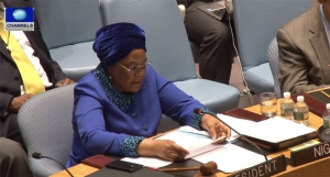 Joy Ogwu at the UN