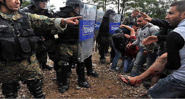 Macedonian Police Fires Tear Gas At Migrants