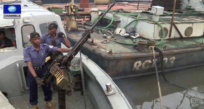 Navy Arrests Ship Along Eastern Waterways