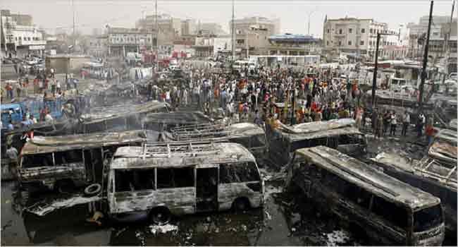 Iraq Truck Bomb 'Kills Dozens' In Baghdad Market