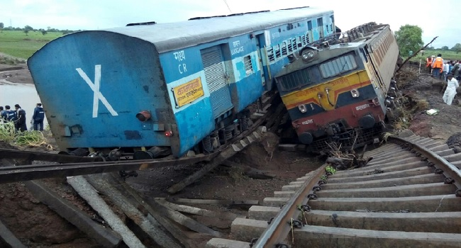 At Least 24 Dead As Trains Derail In India