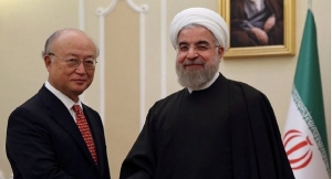 Mr Amano and President Hassan Rouhan