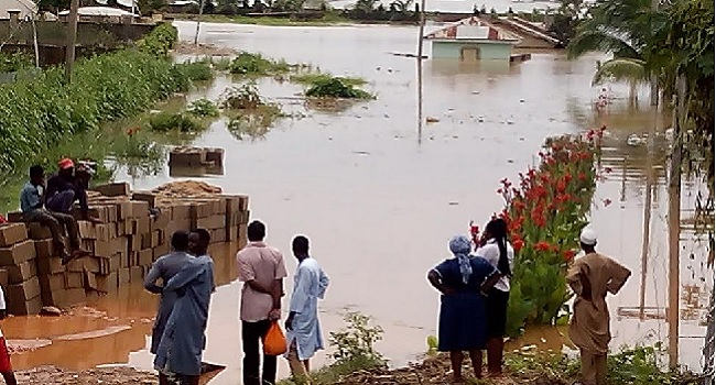 Kaduna, Flood, Nema, 300 houses destroyed, 10000 people displaced
