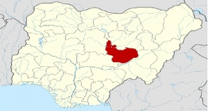 Plateau State on the map of Nigeria