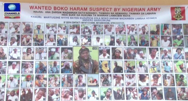 Wanted Boko Haram terrorists