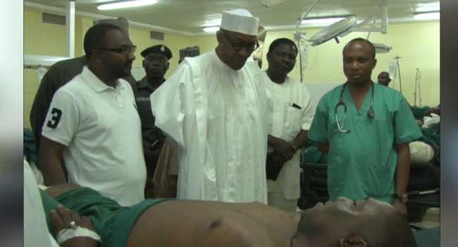 Abuja Bomb Blast: President Buhari Visits National Hospital