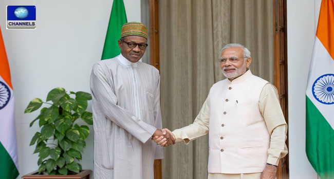 Buhari Holds Bilateral Talks With Indian PM, Modi