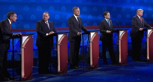 US Republicans Spar In Heated Presidential Debate
