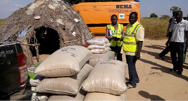 NSEMA Distributes Relief Materials To Flood Victims