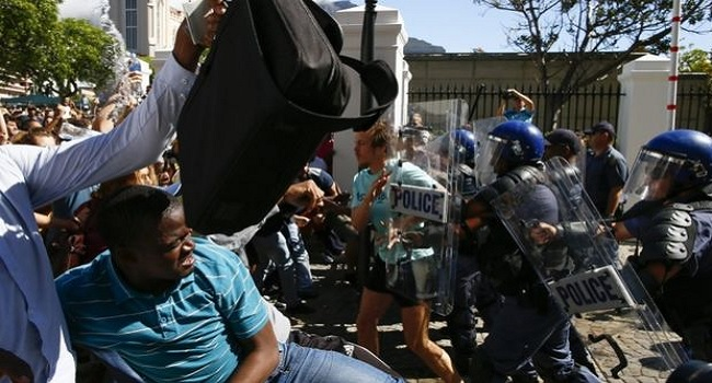 South African Students Clash With Police