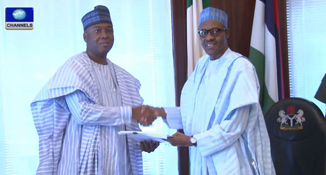 Buhari Meets With Saraki, Signs Endangered Species Act