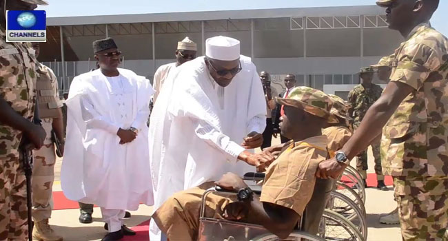 Buhari Decorates War Heroes In Yola