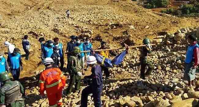 90 Dead In Myanmar Jade Mine Landslide