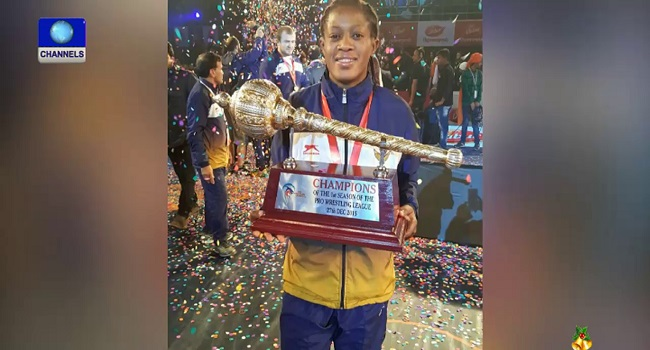 Adekuruoye Leads Team To Victory In Indian Pro Wrestling League